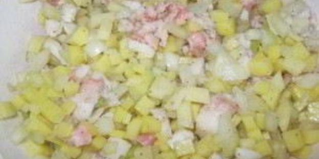 манты с картошкой и салом